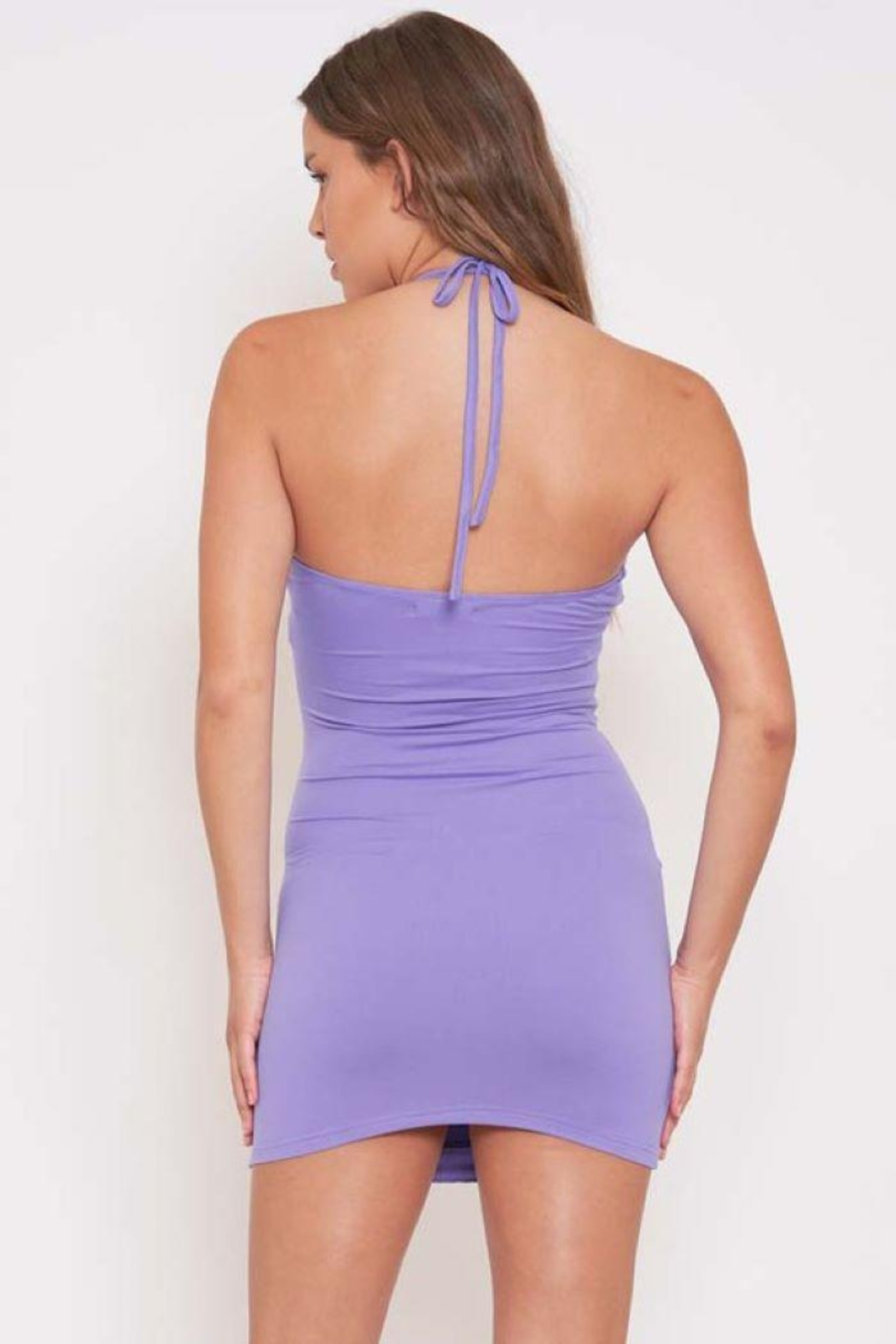 Better Be Piping Lettuce Halter Dress - Side Cropped Image