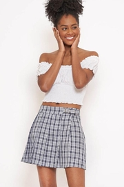 Better Be Plaid Mini Skirt - Front cropped
