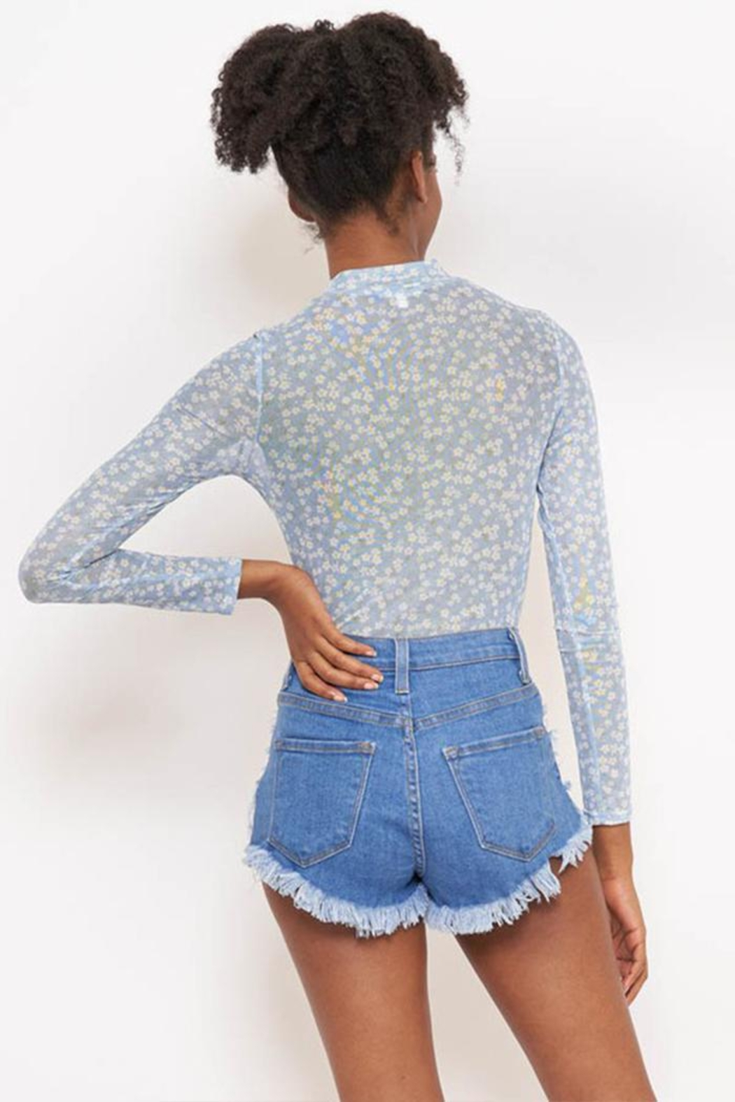 Better Be Print Mesh Bodysuit - Side Cropped Image