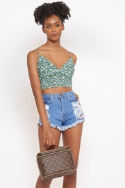 Better Be Print Mesh Top - Front cropped