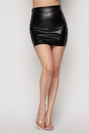 Better Be Pu Mini Skirt - Front cropped