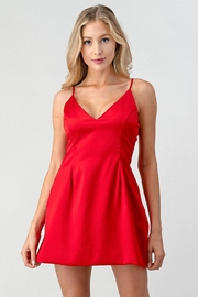 Better Be Red Satin Dress - Product Mini Image