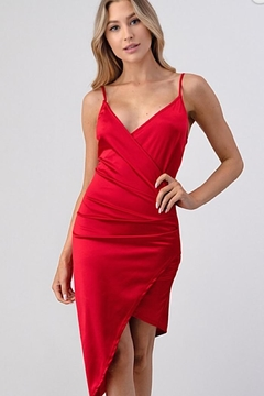 Better Be Red Wrap Dress - Product List Image