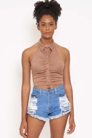 Better Be Rib Halter Collar Top - Product Mini Image