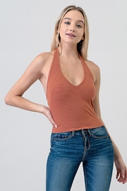 Better Be Ribbed Halter Top - Product Mini Image