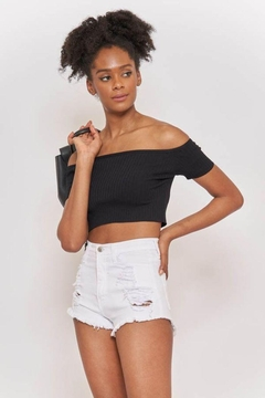 Better Be Ribbed Off Shoulder Top - Product List Image