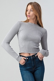 Better Be Ribbed Sweater Top - Product Mini Image
