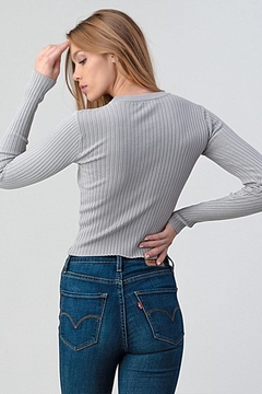Better Be Ribbed Sweater Top - Alternate List Image