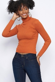 Better Be Ribbed Turtle-Neck Sweater - Front cropped