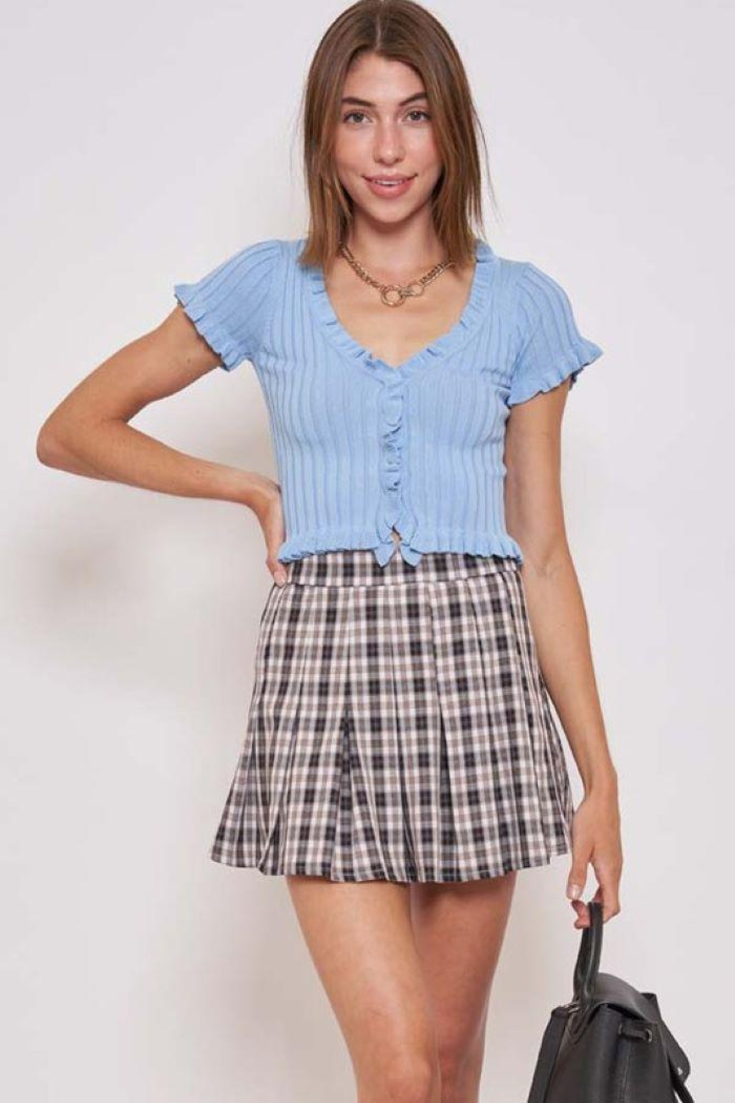 Better Be Ruffle Me Up Yoko Knit Top - Side Cropped Image