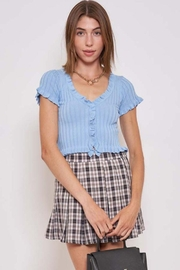 Better Be Ruffle Me Up Yoko Knit Top - Front cropped