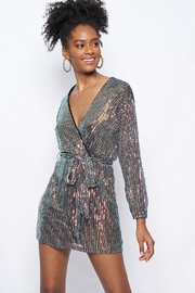 Better Be Sequin Tie-Waist Dress - Front cropped