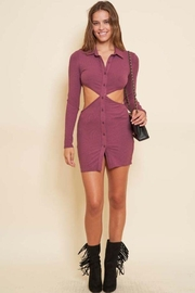 Better Be Side Cut Out Collared Dress - Product Mini Image