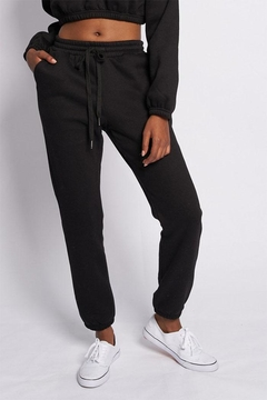 Shoptiques Product: Solid Drawstring Sweatpants