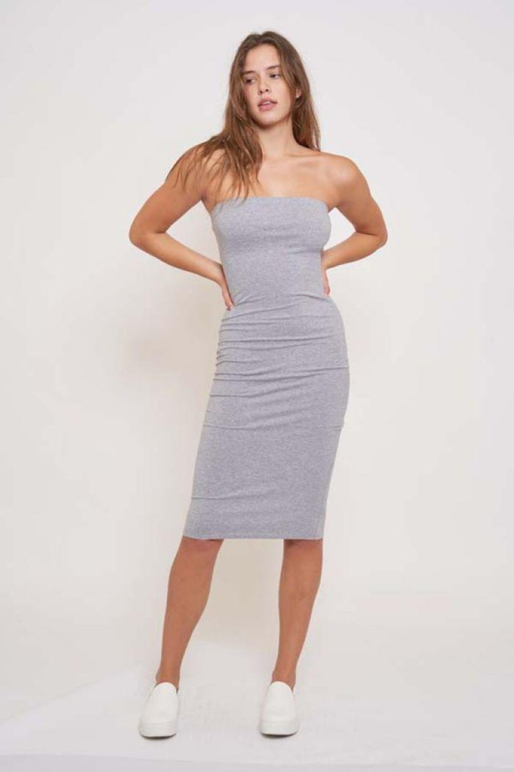 Better Be Tube Knee Length Dress - Front Cropped Image