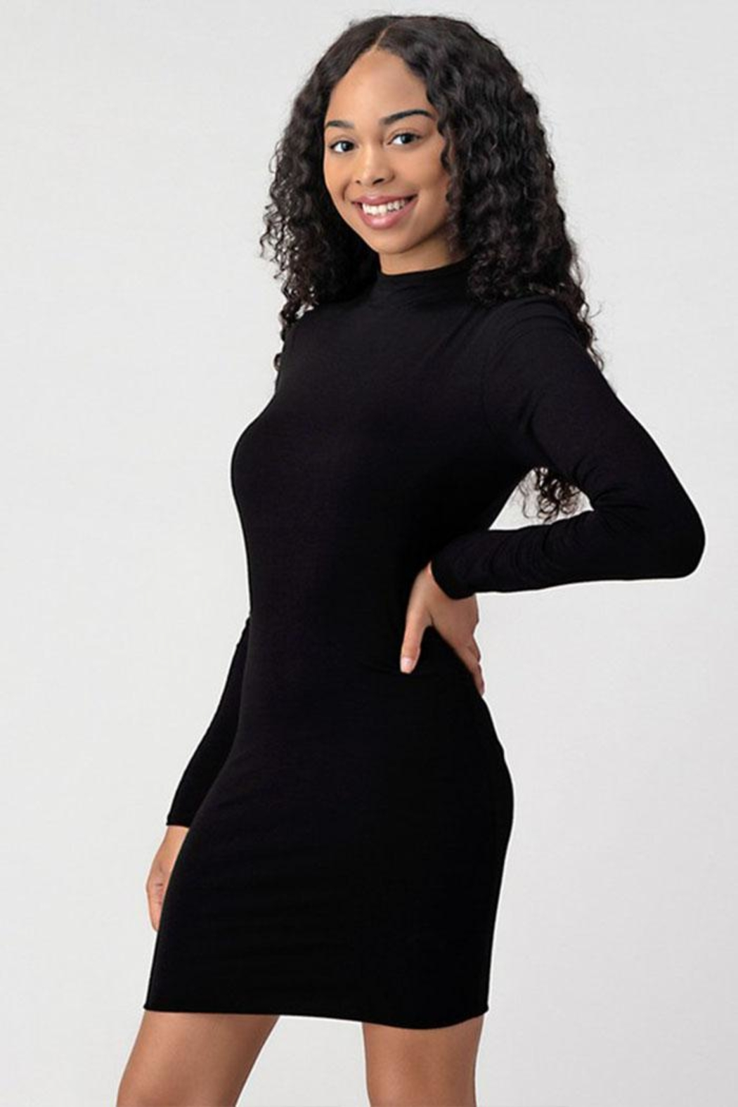 Better Be Turtleneck Black Dress - Front Full Image
