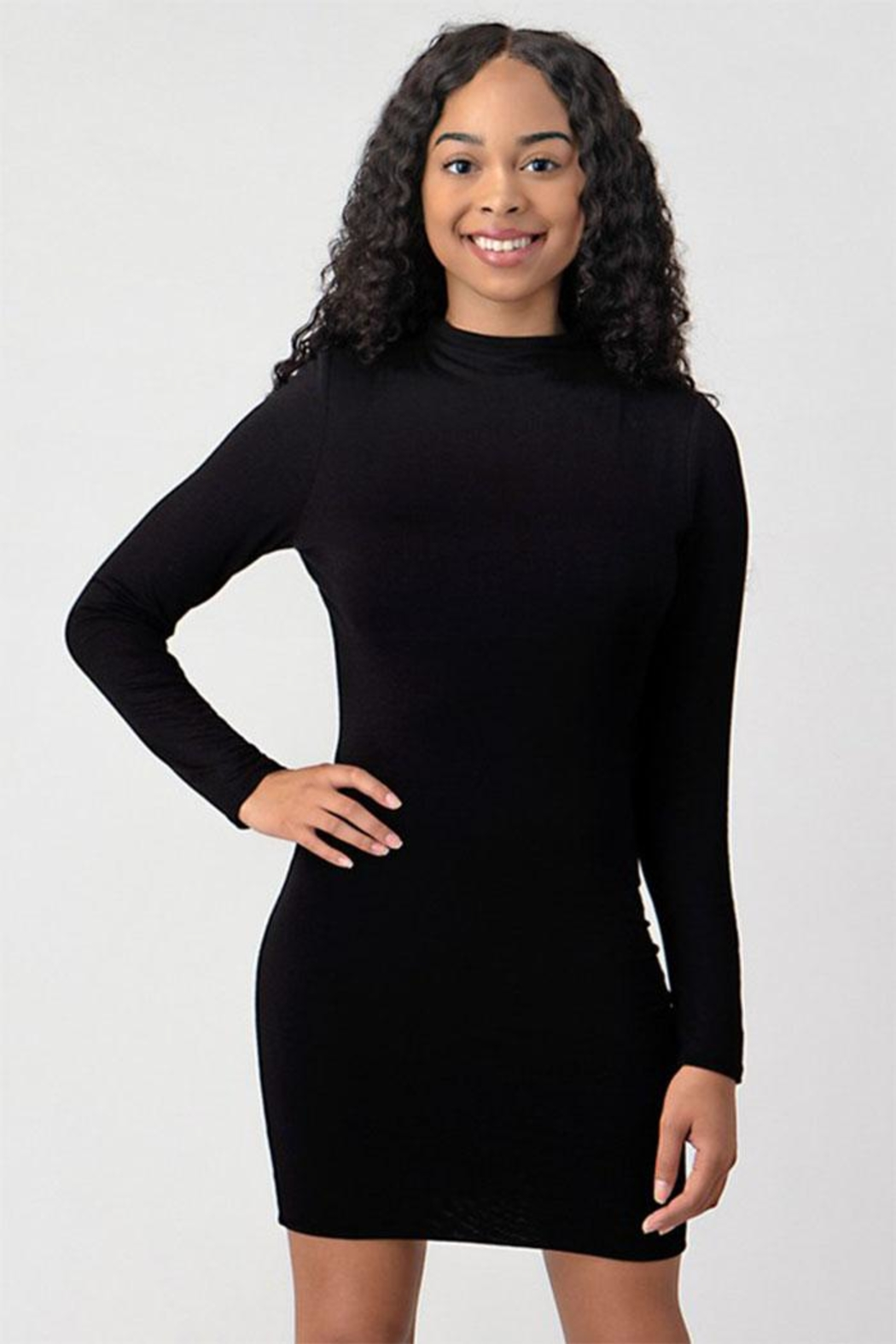 Better Be Turtleneck Black Dress - Main Image