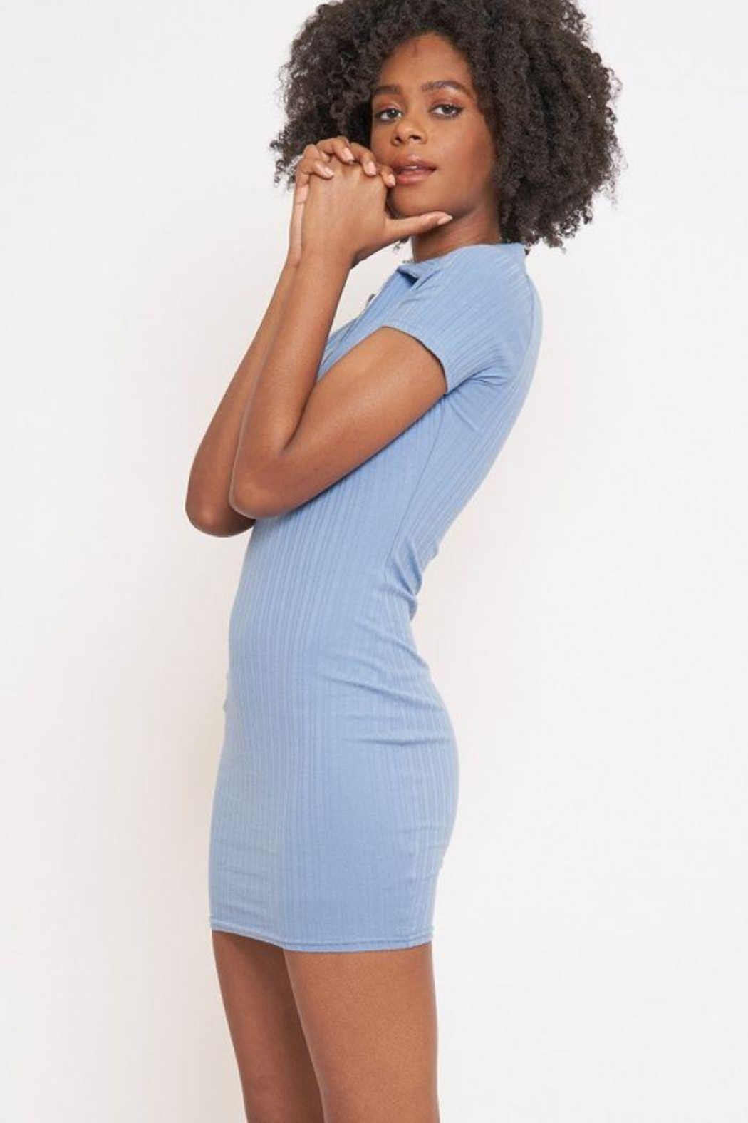 Better Be Veriegated Dress With Ring Zip - Back Cropped Image