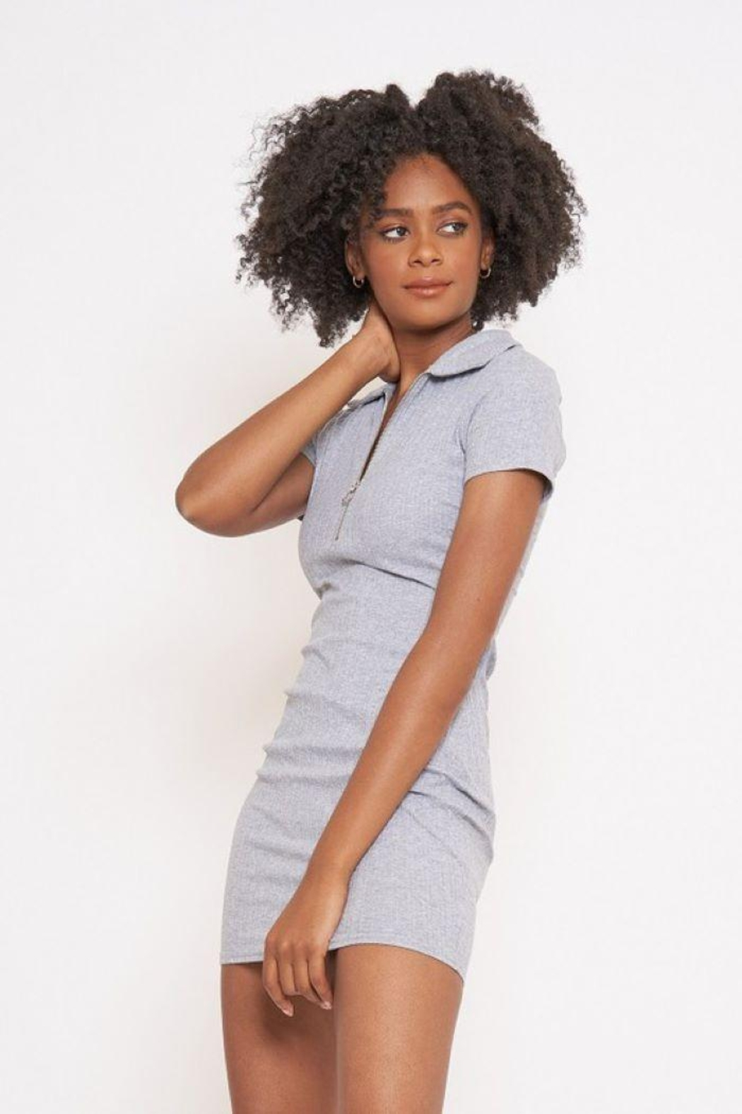 Better Be Veriegated Dress With Ring Zip - Front Full Image