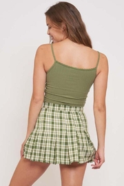 Better Be Veriegated Rib Tank Top With Lace - Back cropped