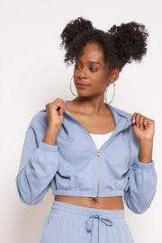 Better Be Zip-Up Crop Hoodie - Front cropped