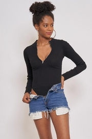 Better Be Zipper Long Sleeve Bodysuit - Product Mini Image
