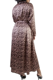 Bettie Page Leopard Print Robe - Front full body