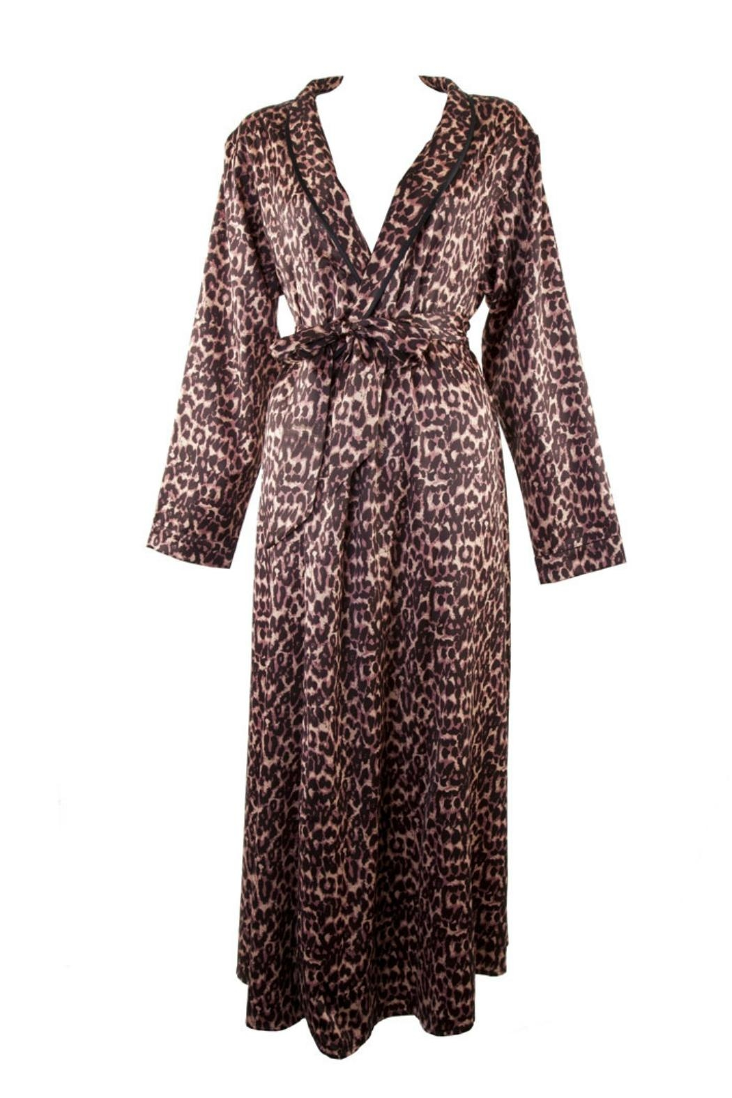 Bettie Page Leopard Print Robe - Side Cropped Image