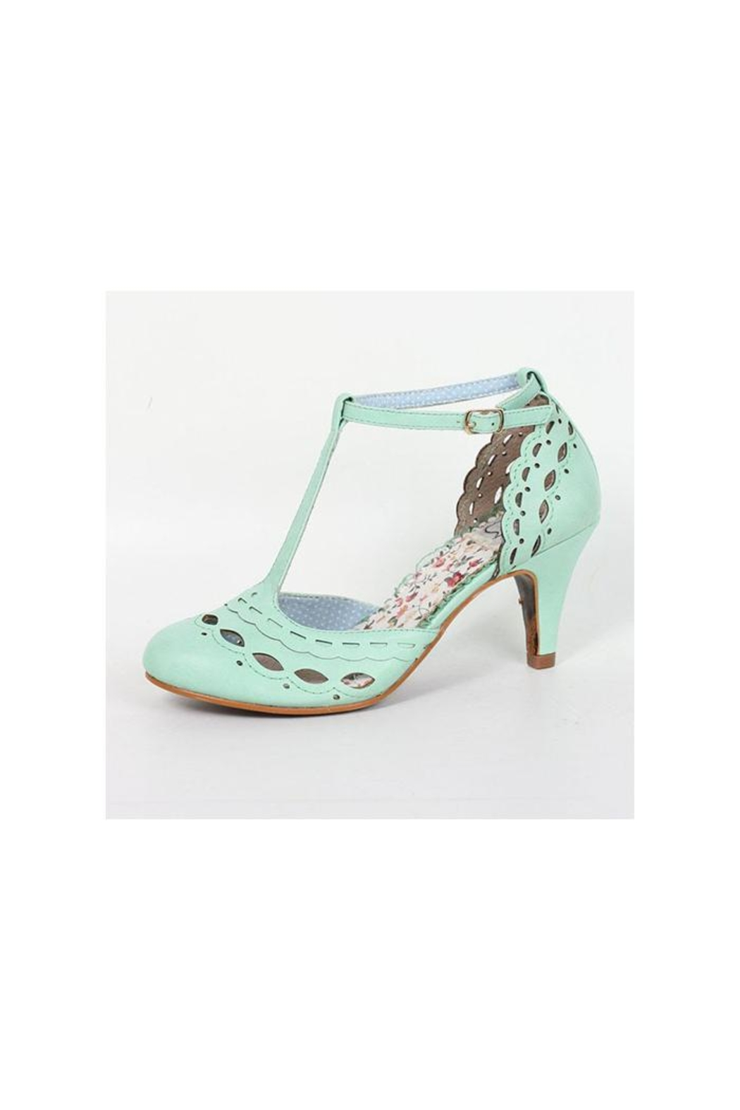 Bettie Page Raine Mint Shoes - Main Image