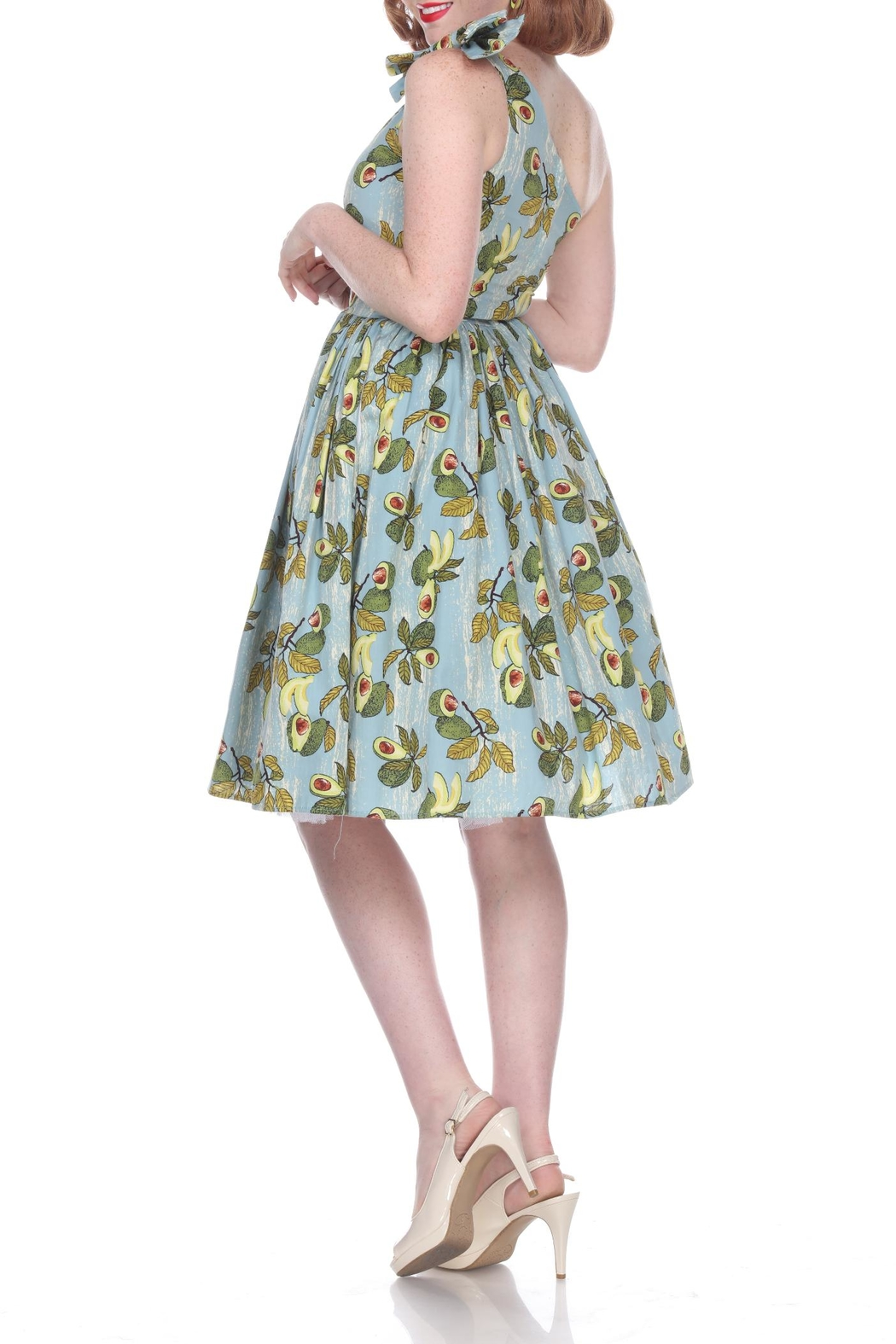 Bettie Page Clothing Avocado Belinda Dress - Front Full Image