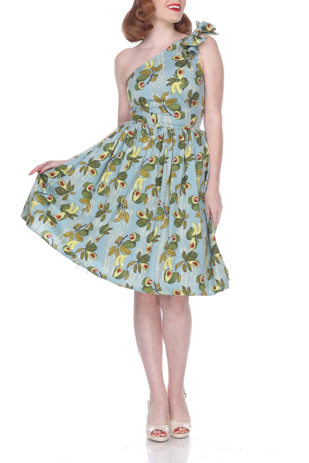 Bettie Page Clothing Avocado Belinda Dress - Front Cropped Image