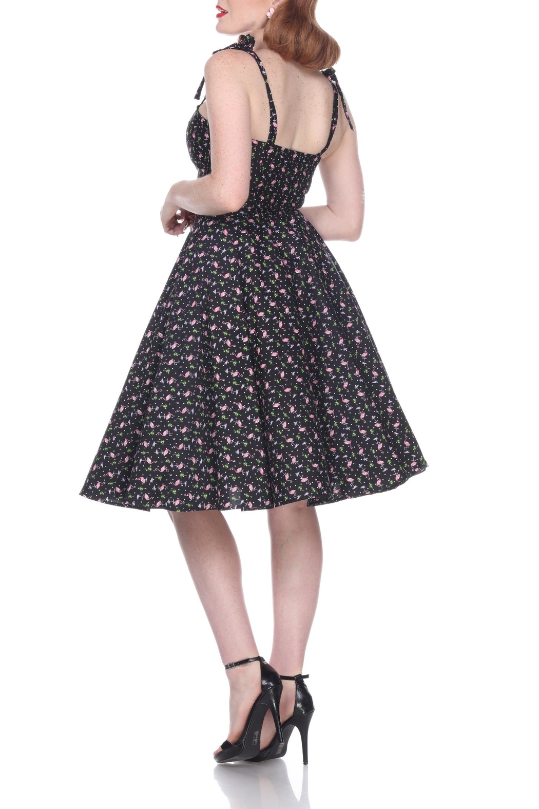 Bettie Page Clothing Flamingo Swing Dress - Front Full Image