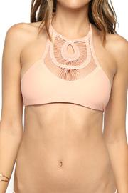 Bettinis Peach Crochet Top - Product Mini Image