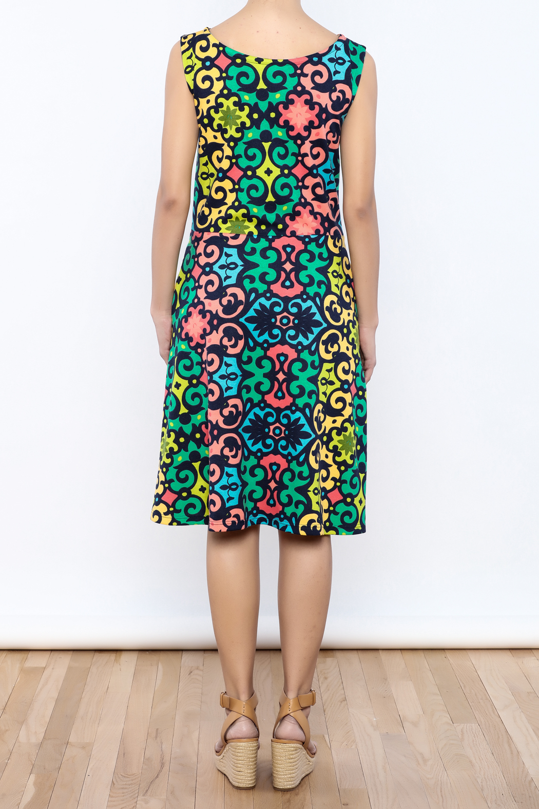Betty Jeffries Multicolor Knit Dress - Back Cropped Image