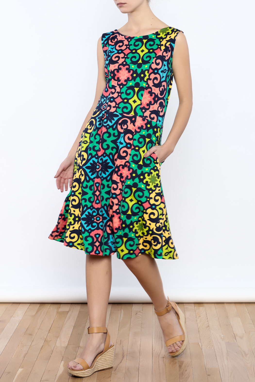 Betty Jeffries Multicolor Knit Dress - Main Image