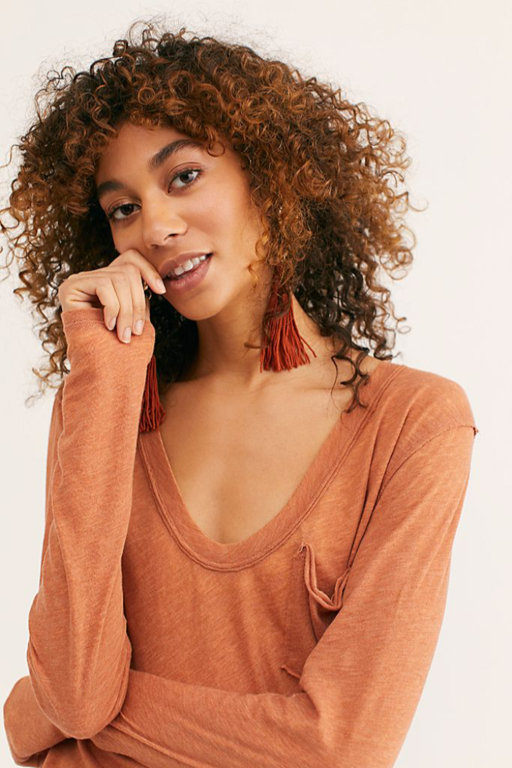 Free People Betty Long Sleeve - Side Cropped Image