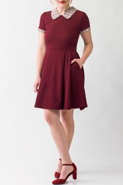 Smak Parlour Betty Wine Dress - Product Mini Image