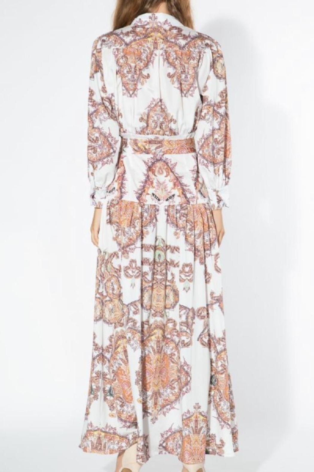 beulah Boho Button-Down Maxi - Front Full Image