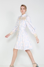 beulah Button-Down Lace-Trim Dress - Front full body
