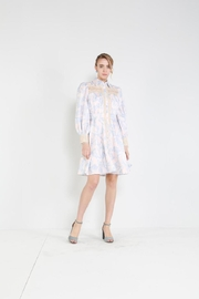 beulah Button-Down Lace-Trim Dress - Product Mini Image