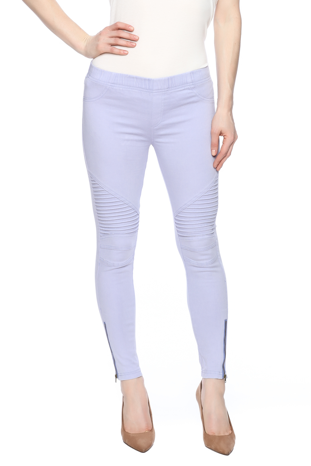 beulah Ribbed Leggings - Front Cropped Image