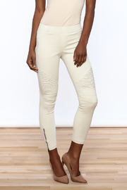 beulah Distressed Moto Legging - Product Mini Image