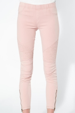beulah Dusty-Pink Moto Jeggings - Alternate List Image