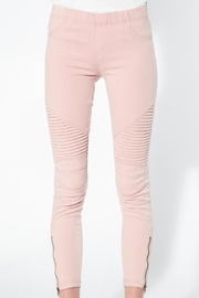 beulah Dusty-Pink Moto Jeggings - Product Mini Image