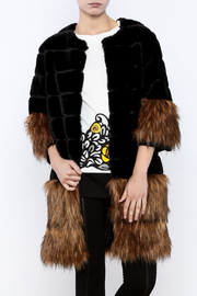 beulah Faux Fur Overcoat - Product Mini Image