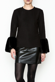 beulah Fur Sleeve Top - Front cropped