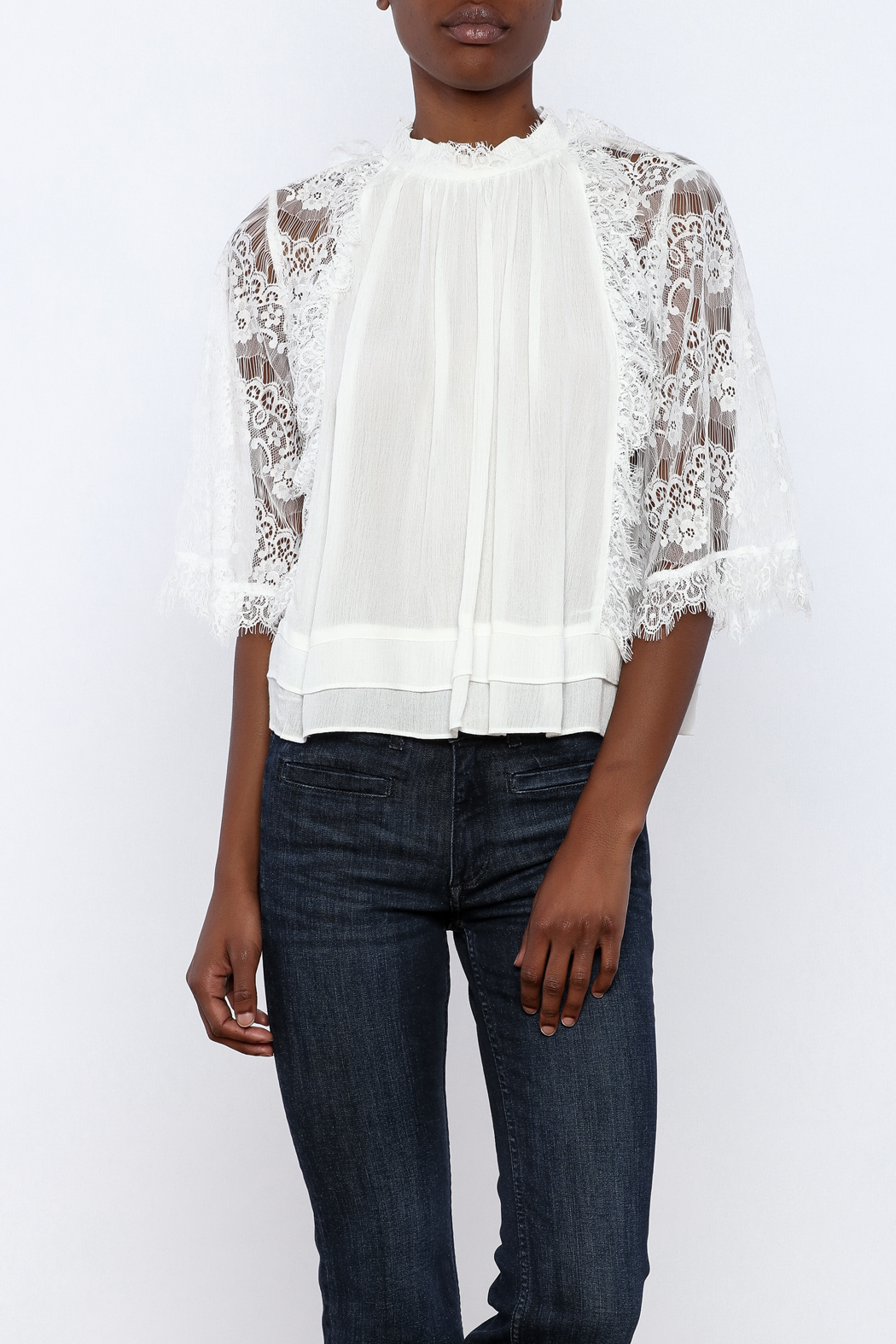 beulah Lace Sleeve Top - Main Image