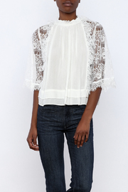 beulah Lace Sleeve Top - Front cropped