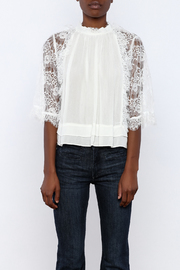 beulah Lace Sleeve Top - Side cropped