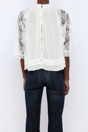 beulah Lace Sleeve Top - Back cropped